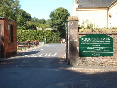 Puckpool Park Entrance