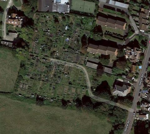 Overhead Picture of Sandlands Allotment