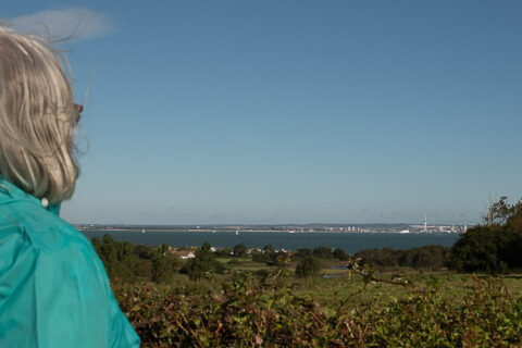 View of the Solent when stood by the Barnsley Trail Map